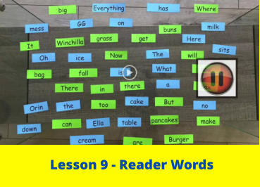 Lesson 9 - Reader Words