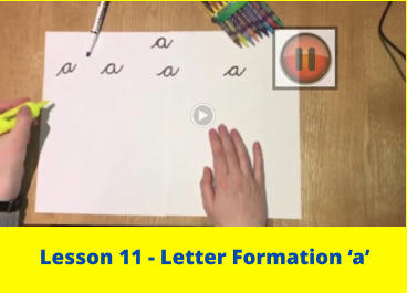 Lesson 11 - Letter Formation 'a'