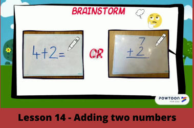 Lesson 14 - Adding two numbers