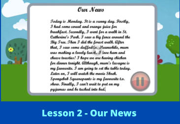 Lesson 2 - Our News