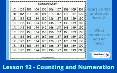 Lesson 12 - Counting and Numeration