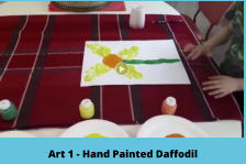 Art 1 - Hand Painted Daffodil
