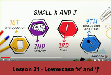 Lesson 21 - Lowercase 'x' and 'j'